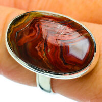 Crazy Lace Agate 925 Sterling Silver Ring Size 8.5 Ana Co Jewelry R36606F