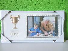 """Bilderrahmen""""Weltbester Opa""""Fotorahmen Opi Großvater Pokal Bild Picture Wanddeko"""