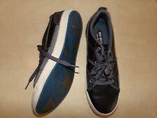 Skechers Black Leather Lace Up Sneakers, Memory Foam, Men's Size 8