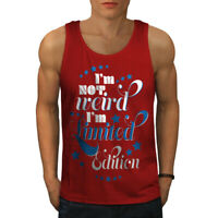 Wellcoda Not Weird Saying Mens Tank Top, Edition Active Sports Shirt
