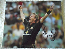 "BRETT LEE SIGNED IN PERSON 8 x 10"" PHOTO COA BUY AUTHENTIC"