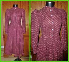 RaRe LAURA ASHLEY Vtg 70s Carno WALES Victorian Country Boho DRESS UK 12 US 10