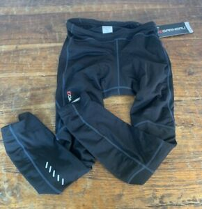 Louis Garneau Men Solano 2 Cham Tights Padded Color Black Size Small NWT