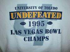 vtg UNIVERSITY OF TOLEDO ROCKET FOOTBALL SWEATSHIRT Las vegas Bowl 1995 Season