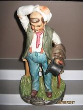 Ceramic figurine old man with hat standing size 250 mm in height/heavy ex/cond