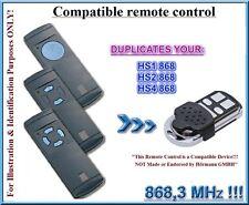 Hormann HS1, Hörmann HS2, Hörmann HS4 compatible remote control, 868,3MHz CLONE