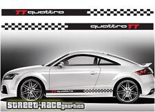 AUDI TT 010 Strisce Da Corsa Decalcomanie Adesivi Grafica RS QUATTRO Motorsport