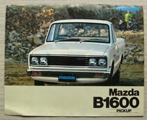 MAZDA B1600 PICK UP TRUCK Sales Brochure 1977 #7703S110-94