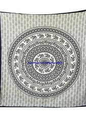 Indian Round Elephant Mandala Tapestry Hippie Wall Hanging Bedspread Blanket