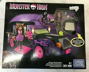 Mega Bloks Monster High Monster Moviemobile & Clawdeen Wolf ~NEW~