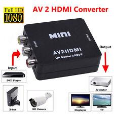 Mini RCA AV vers HDMI convertisseur adaptateur Composite AV2HDMI 1080P Converter