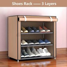 3 Grid Tier Shoe Rack Shelf Closet w/Cover Storage Entryway Organizer Cabinet US
