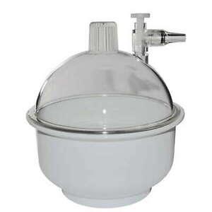 Exsikkator (Vakuumglocke) aus PP/PC (2,15 Liter / Ø 150 mm)