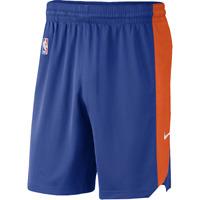 Nike NBA New York Knicks Practice Shorts New Men's Blue Sportswear AA7371-495