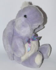 Vtg Baby Gund Soft Purple Turtle Rattle Plush Toy Bow 90s Lovey RARE Nursery HTF