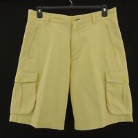 Mens Indigo Palms Tommy Bahama Yellow Chinos Cargo Casual Golf Shorts Size 34 M