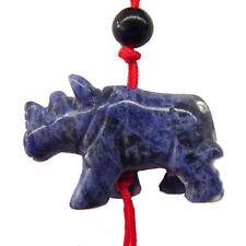 Feng Shui Blue Rhinoceros Charm