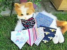 Tiny Dog or Cat Collar Bandanna  Rainbow Bees Boats Cats Rainbow Stripe Size XS