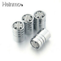 4 x Dust Caps Chrome Valve Covers Wheel Tyre Tire For Mini Cooper R52 R53 F55