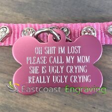Oh Sht Ugly Crying Pet Tag | Dog ID tag | Pet ID Tag | Funny Pet Tags | Dog Tag