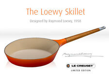 Le Creuset-Raymond Loewy-Cast Iron Skillet-Limited Edition-Retails $599
