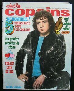 SALUT LES COPAINS N°144 AOUT 1974-COUVERTURE SARDOU/TRANSFERT J.HALLYDAY/POSTER