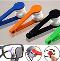 5pcs Mini Glasses Eyeglass Microfiber Spectacles Cleaner Brush Cleaning Tool
