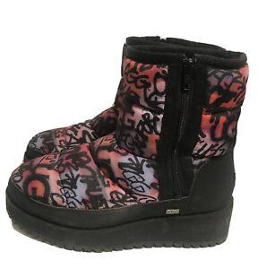 Ugg Ridge Graffiti Pop Multi-colored Women's Size 10 Wedge Side Zip Boots CUTE!!