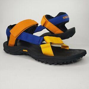 Merrell Mens Vibram Outsole Black/Blue/Orange Strap Hiking Sandal Sz 9 J000789