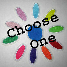Girl Scout Daisy Petal Patch Blue Green Yellow Red Purple Orange Rose Choose One