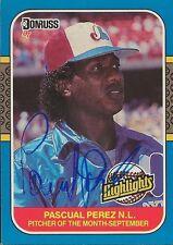 Pascual Perez 1987 Donruss Highlights Autograph #50 Expos