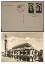 CARTOLINA CON ANNULLO PRIMO GIORNO UDINE 1956 BASILICA PALLADIANA (VI) FG #17763