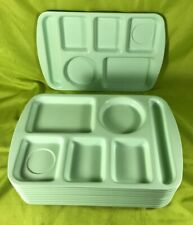 Vintage Light Mint Green Melamine Cafeteria Tray Pronlonware by Prolon Lot of 10