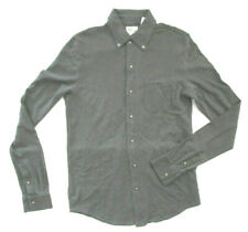 Men's AG Adriano Goldschmied Casual Shirt, Drk Gray Long Sleeve One Pocket S