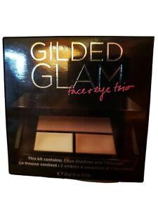 Victoria's Secret Gilded Glam Face & Eye Trio - RARE 2 eyeshadow, 1 bronzer