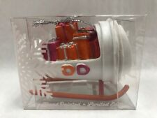New Limited Edition Dunkin Donuts Hot Coffee Cup Sleigh Holiday Ornament