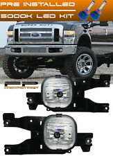 LED 2008-2010 Ford F-250 Super Duty Fog Lights Complete Set Kit Include Wiring