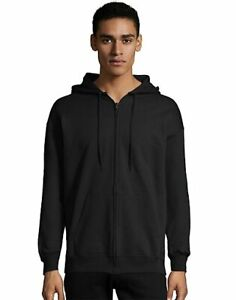 Men's Full Zip Hoodie Hanes Ultimate Sweatshirt Cotton Heavyweight Fleece Warm