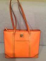 Dooney Bourke Elegant Pebble Grain Lexington Handbag Orange