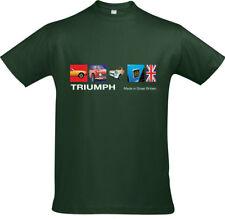Retro Triumph Cars Made In Great Britain T-Shirt Design