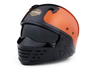 Helm, Sport Glide 2-in-1 X07, Harley-Davidson, Schwarz/Orange