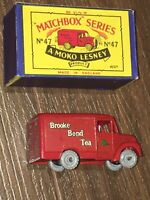 Matchbox A Moko Lesney  47a Brooke Bond Tea Trojan 1 Ton van mint in box