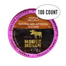 Moose Munch Coffee, Maple Walnut, 100 Single Serve Cups