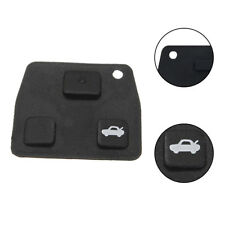 Replacement 2 or 3 Button Car Remote Key Black Rubber Pad For Toyota Avensis.