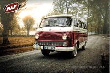 "1958 Model of  Soviet minibus RAF-977 ""LATVIA"" Modern Russian postcard"