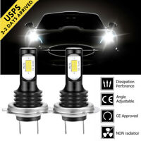 H7 Motorcycle LED Headlight Bulbs Kit High Low Beam 110W 12000LM 6000K White HID