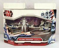 Hasbro Star Wars The Clone Wars Clone Trooper and Barc Speeder Bike NEW SEALED