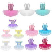 Girls Ballet Tutu Dress Toddlers Kids Flowers Princess Sequins Skirts Dancewear
