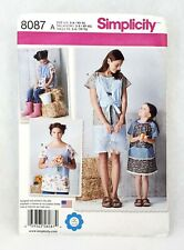 Simplicity 8087 mother daughter matching pullover dress top child 3-8 adult 6-24