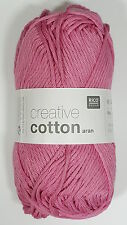 RICO DESIGN CREATIVE COTTON ARAN KNITTING YARN - 50g - ALL COLOURS